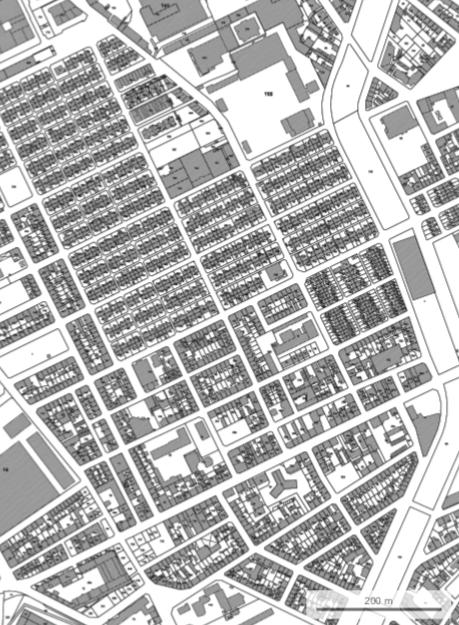 Carte cadastre cité ouvrière Mulhouse