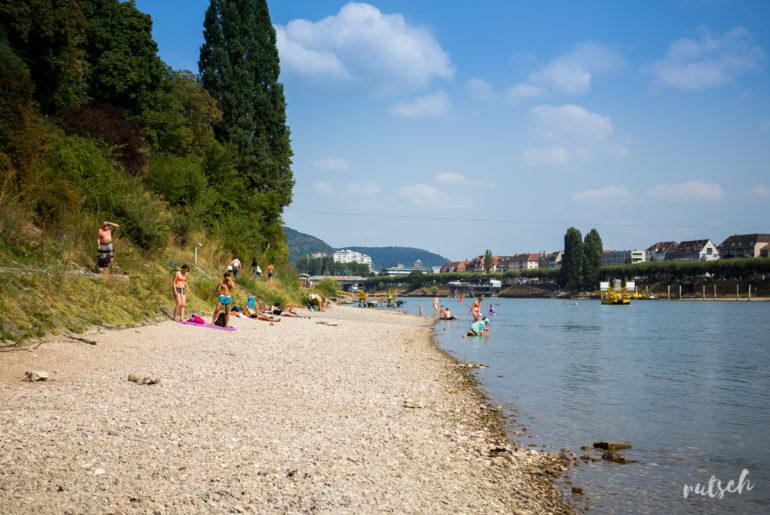 Se baigner dans le Rhin, en plein centre ville 14
