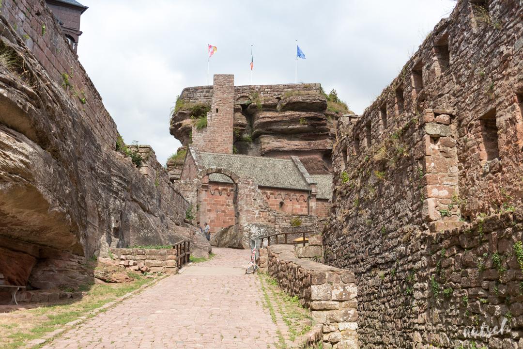 Entrée du Château du Haut-Barr, à Saverne