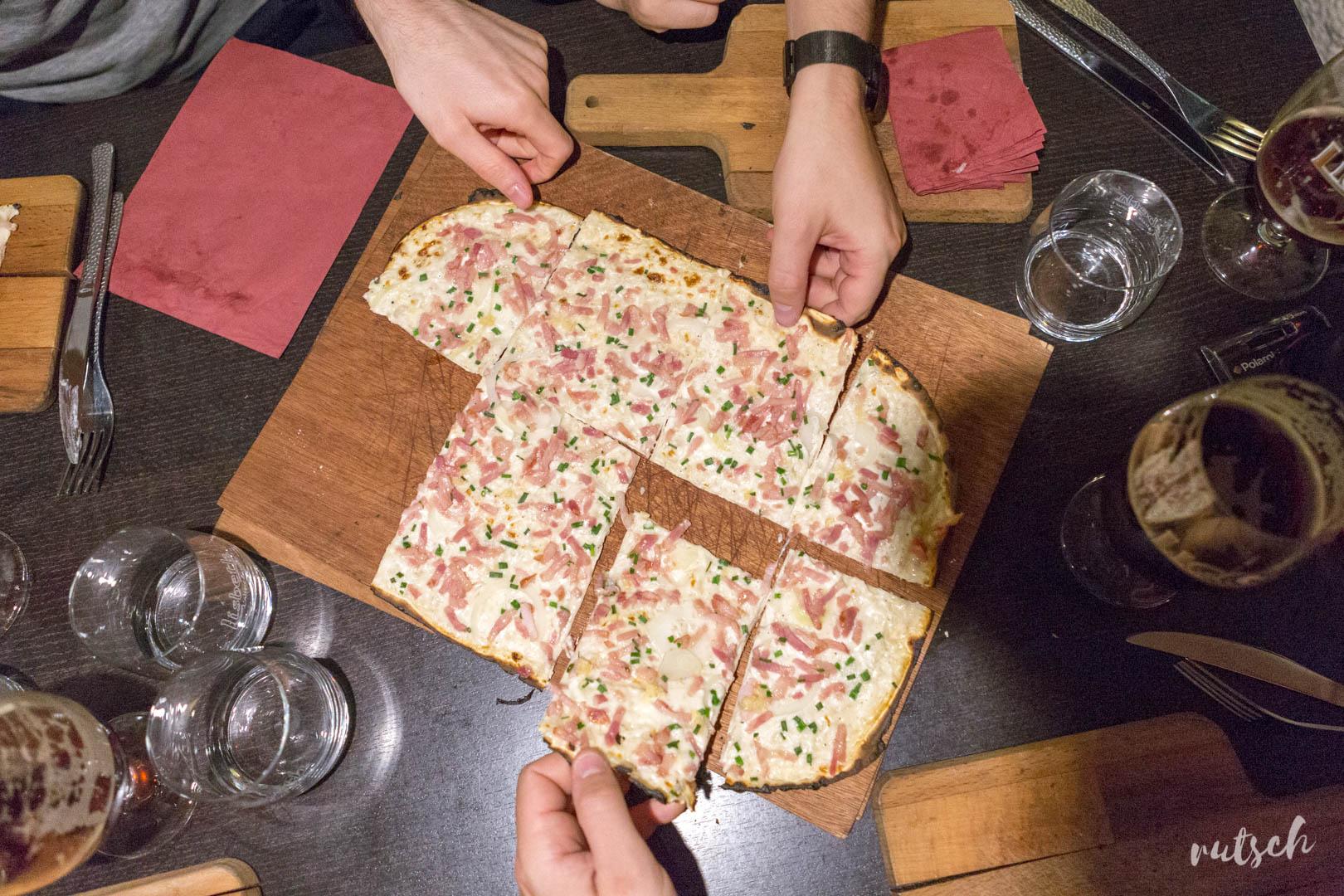 Tarte Flambée ail-ciboulette, La Fignette Strasbourg