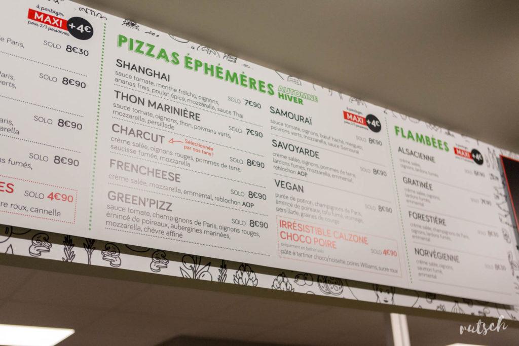 Les Pizzas Éphémères (Automne-hiver 2018)