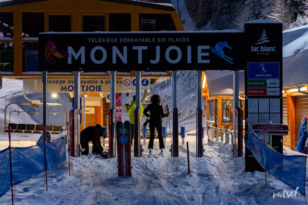 Ski nocturne au Lac Blanc