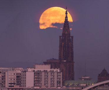 Super-Lune Cathedrale Strasbourg