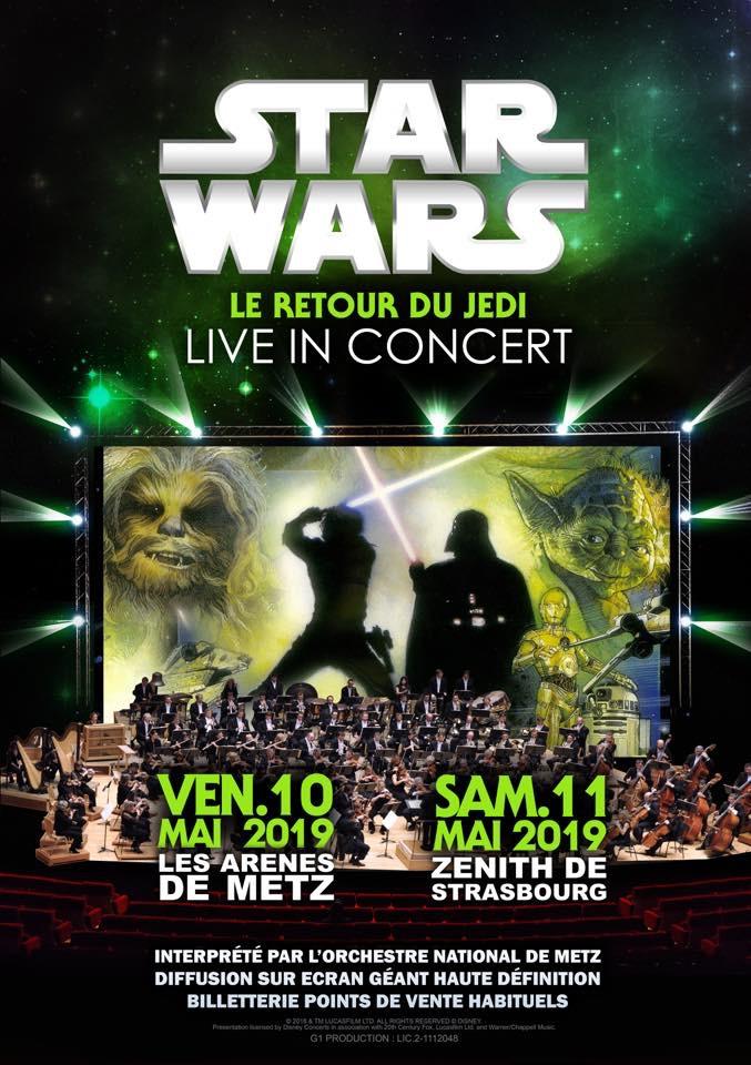 Affiche Star Wars concert - Le retour du Jedi