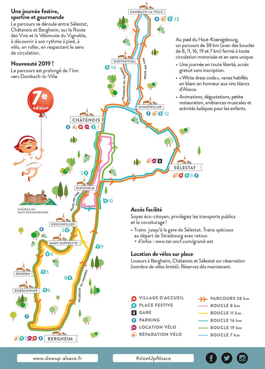 SlowUp Alsace parcours 2019