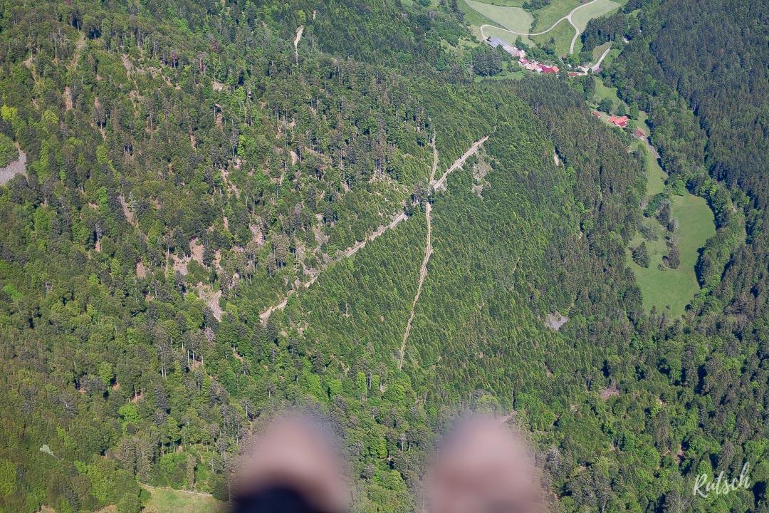 Parapente au dessus des Vosges
