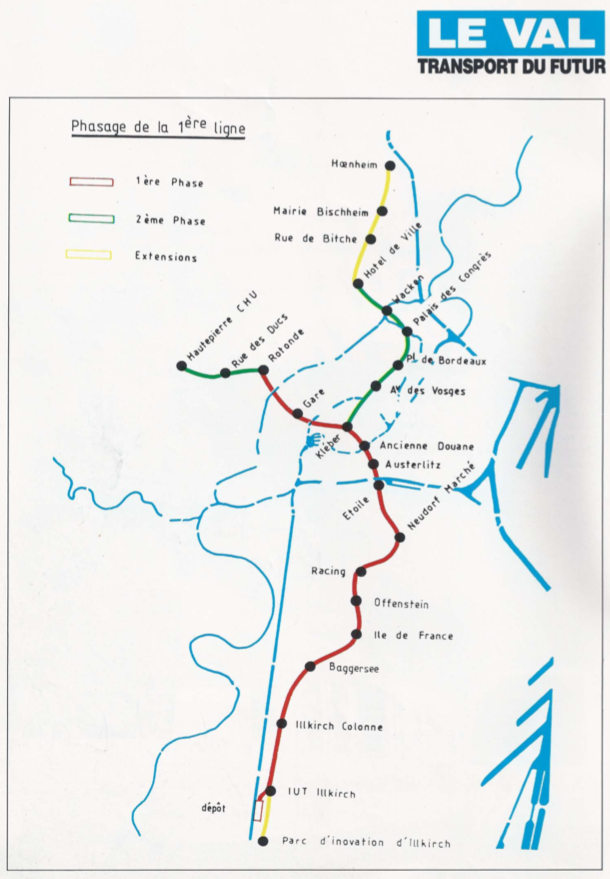 1986 - tracé VAL