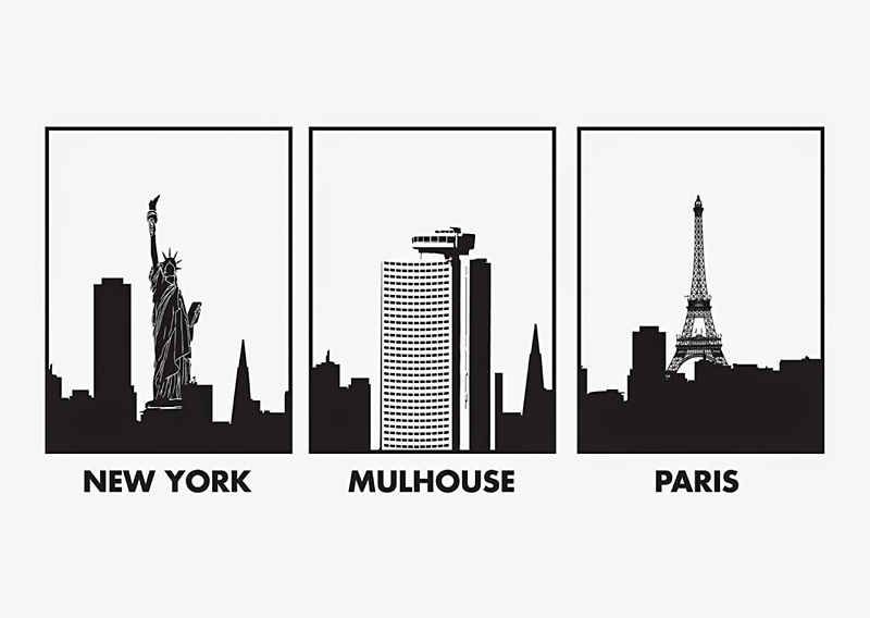 New York Mulhouse Paris