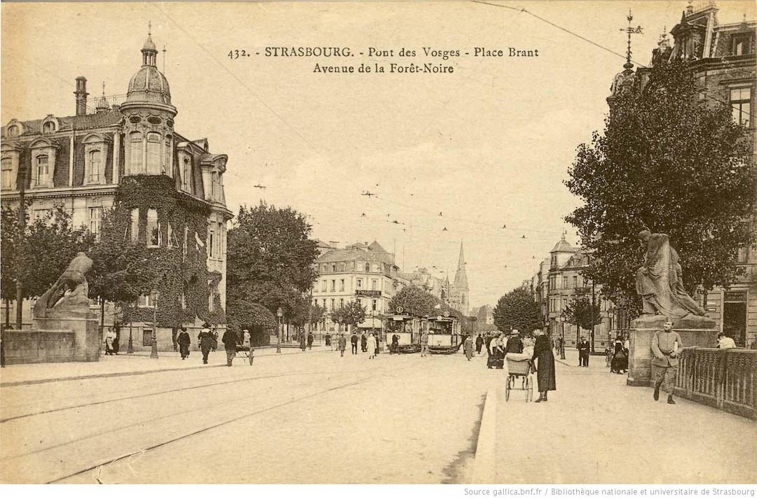 Strasbourg ancien tramway Pont des Vosges
