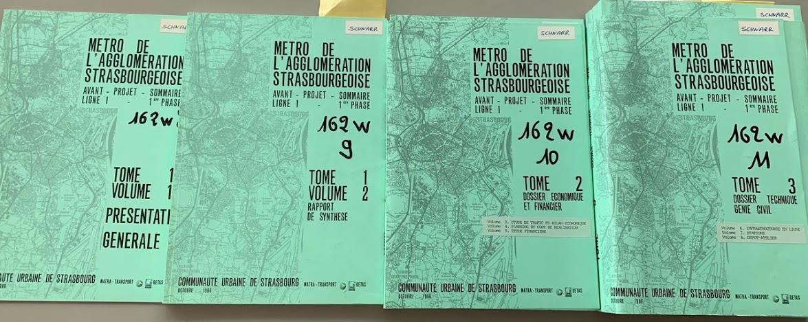 1986 - Avant projet d'étude de métro pour Strasbourg