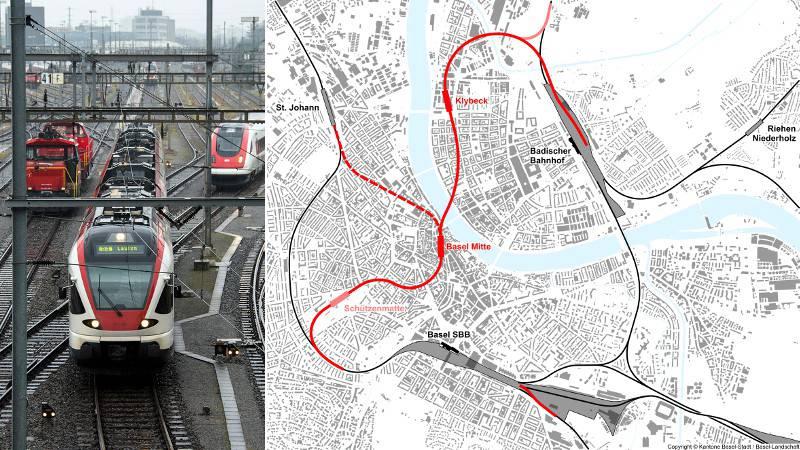 projet RER souterrain Bâle
