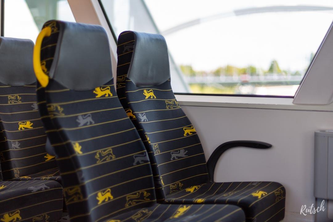 Train régional, frontière entre Strasbourg et Kehl