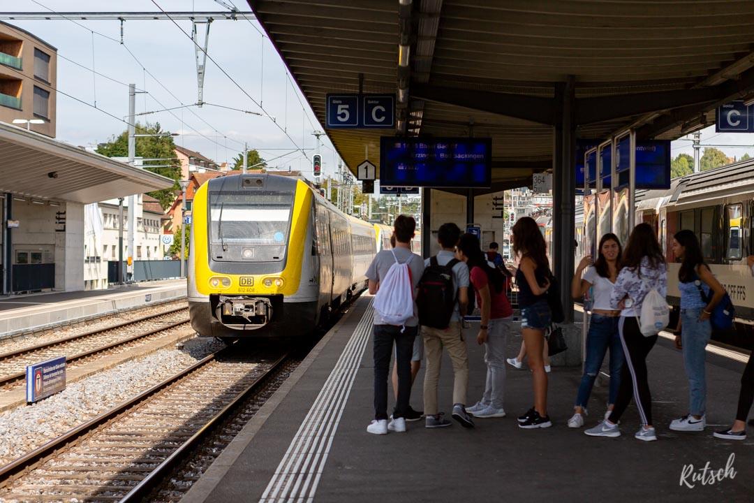 IRE Ulm - Basel, gare de Schaffhausen