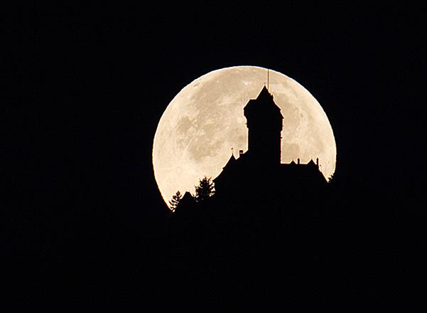 Coucher de Lune Haut-Kœnigsbourg