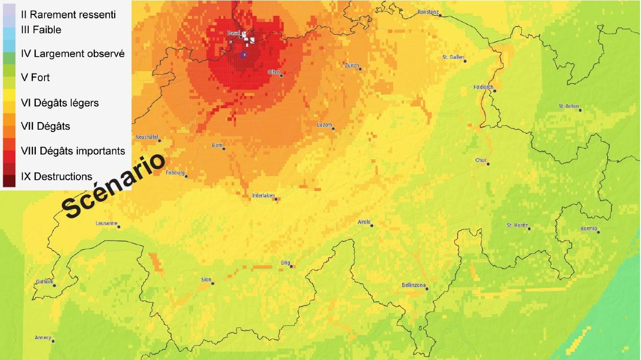 Simulation séisme de Bâle
