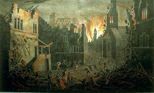Incendie suite au séisme de Bâle