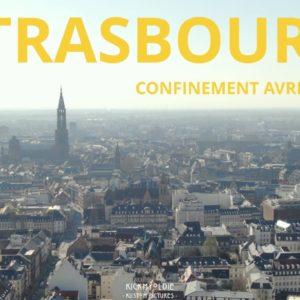 Confinement : les rues désertes de Strasbourg, en drone