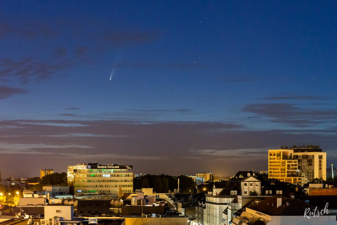Comete NEOWISE Strasbourg