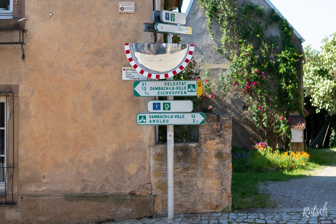 Balisage Route des Vins d'Alsace velo - EuroVelo5
