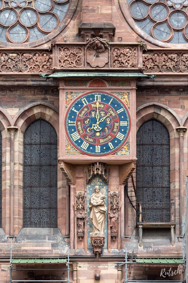 Transept sud Notre Dame de Strasbourg - Horloge