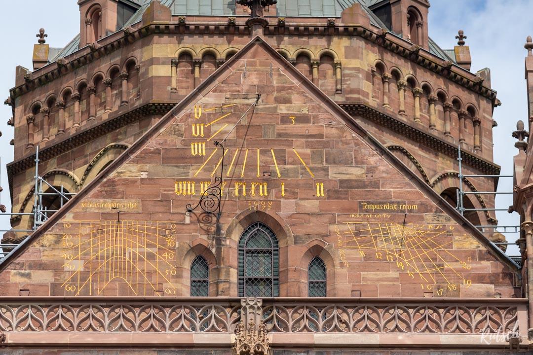 Transept sud Notre Dame de Strasbourg - Cadran solaire