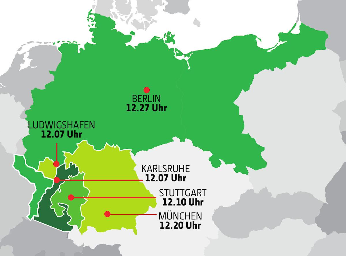fuseaux horaires allemands