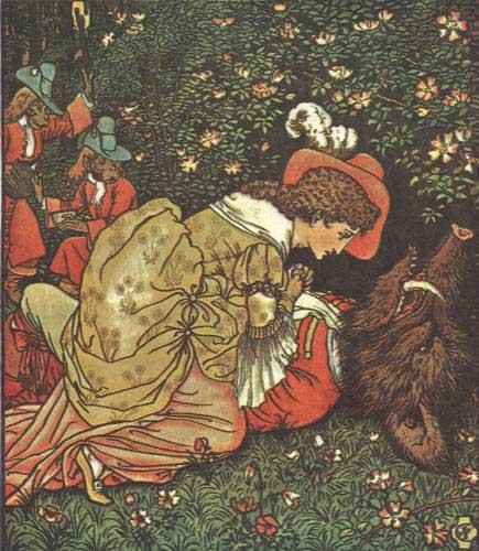 La Belle et la Bête, illustration de Walter Crane (1874)