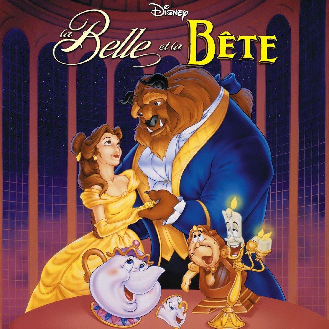 Affiche du film animé La Belle et la Bête
