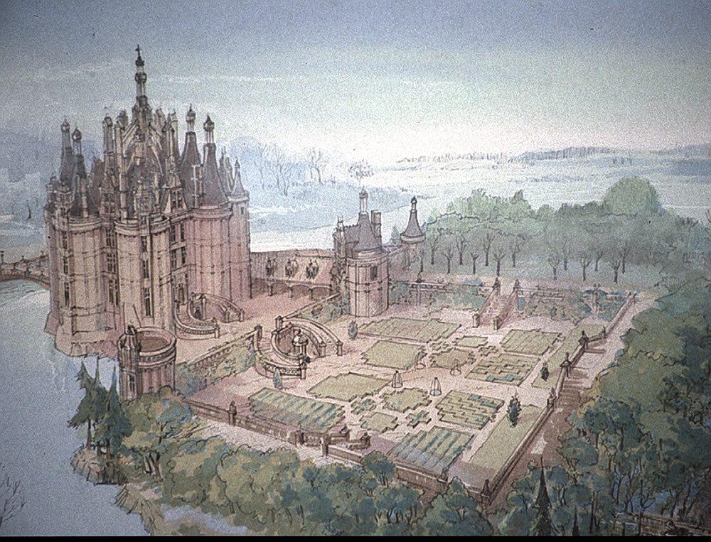 Esquisses du château, par Derek Gogol