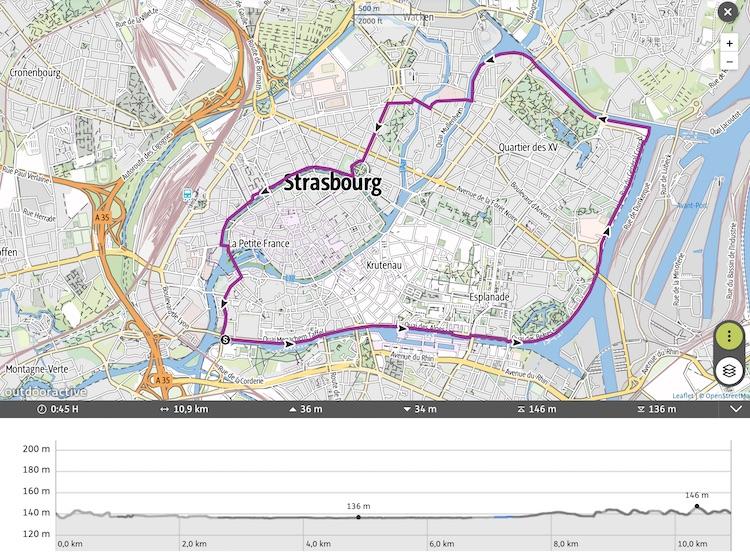 Itinéraire Le tour de Strasbourg par ses canaux