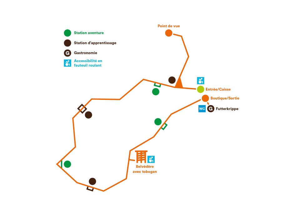 Chemin des Cimes Alsace Drachenbronn - Parcours