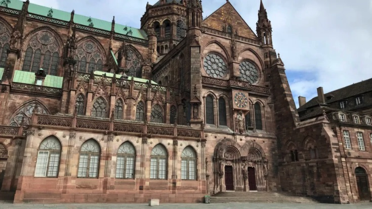 Portail Sud de Notre Dame de Strasbourg - Photo : Radio France (Marie Maheux)