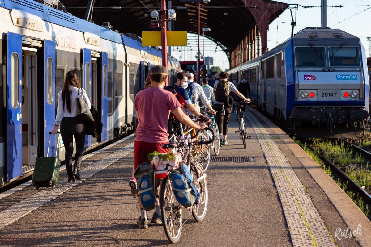 Cyclistes Gare de Strasbourg