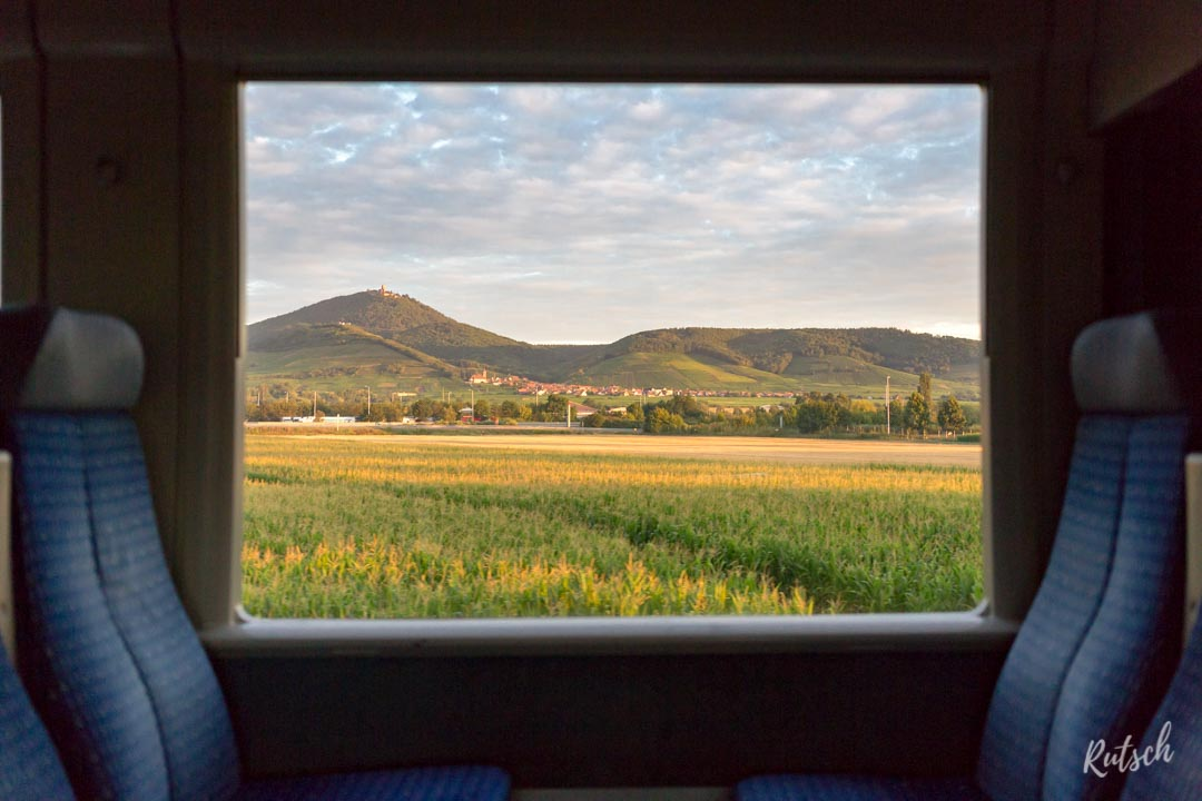 Fenêtre Train Alsace Haut Kœnigsbourg