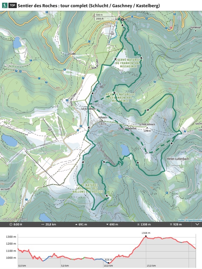 Randonnée Sentier des Roches en Alsace
