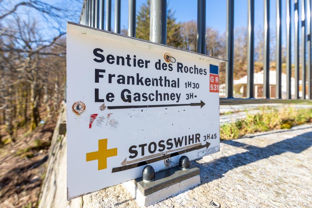 Sentier des Roches en Alsace
