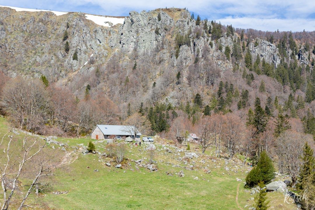 Sentier des Roches en Alsace - Ferme Auberge du Frankenthal