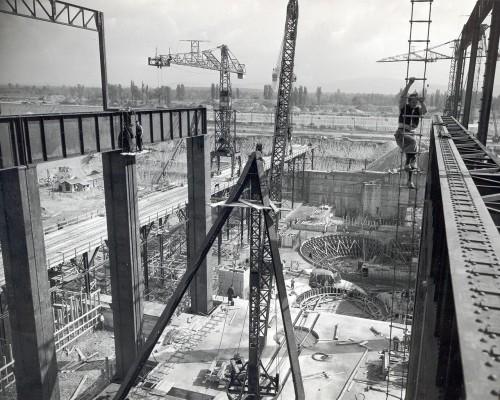 Construction de la centrale hydroélectrique d'Ottmarsheim
