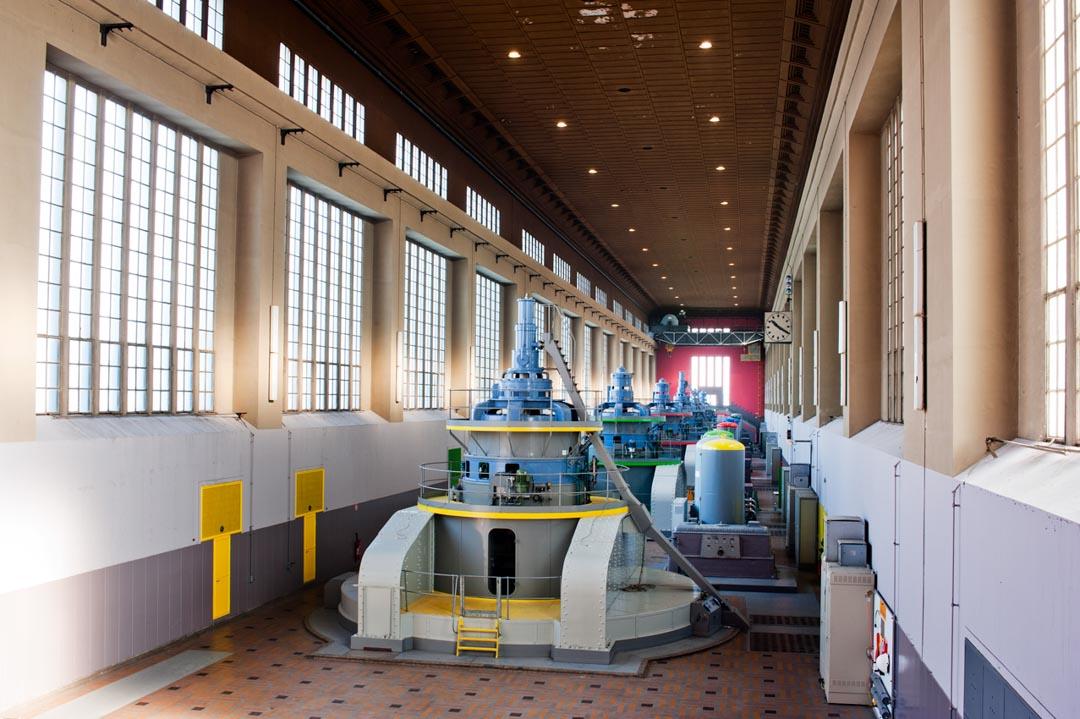 Intérieur de la Centrale Hydroélectrique EDF Kembs