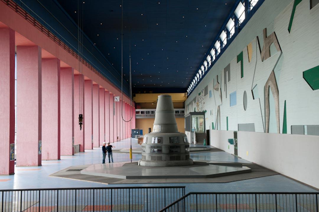 Intérieur de la Centrale Hydroélectrique EDF Rhinau