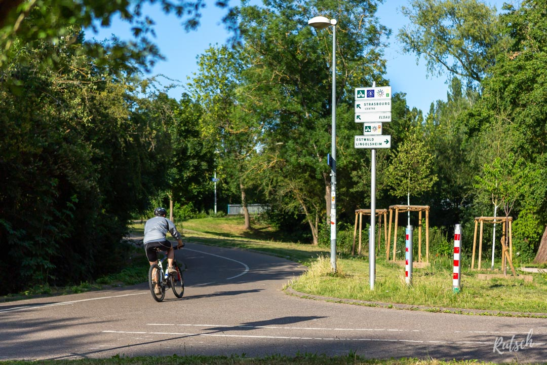 Panneau cyclable Strasbourg