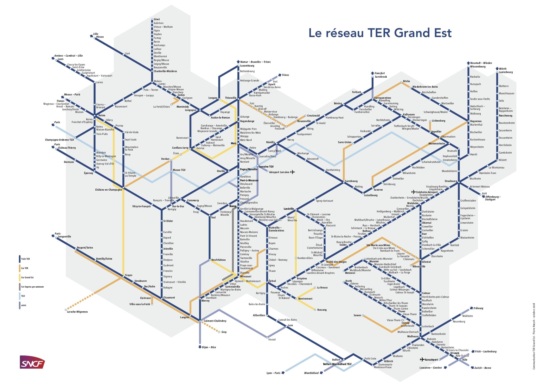 Plan réseau Fluo Grand Est