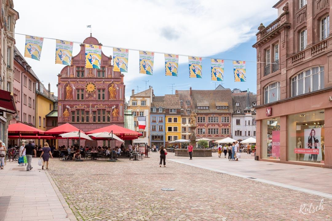 Centre Ville Mulhouse et murs peints