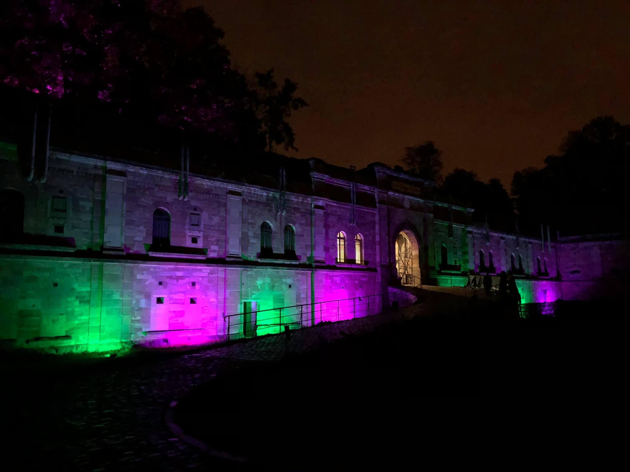 Éclairage Fort Rapp